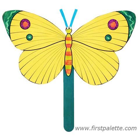 fan craft for summer butterfly fan craft crafts firstpalette