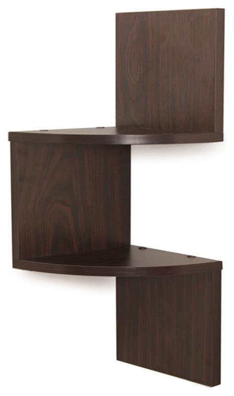 Corner Storage Shelf by Laminated Two Tier Corner Shelf Display