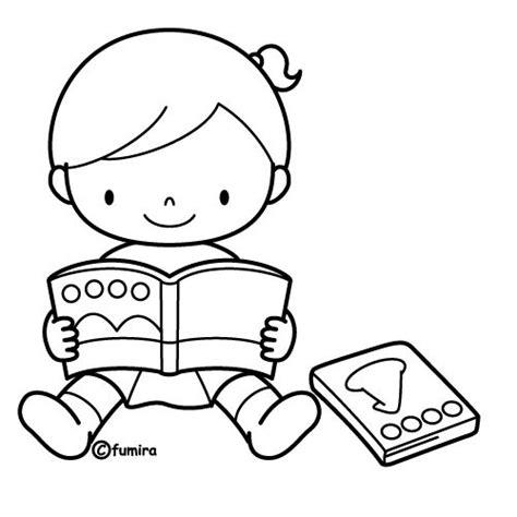 imagenes de ninos leyendo ni 241 os leyendo libro para colorear imagui raar maar
