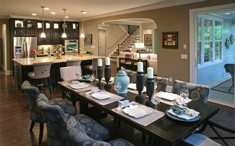 open floor plan color schemes bennett model dining room preservation pointe by