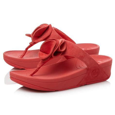 Sandal Wanita Fitflop Banda Flower fitflop yoko flower tpost wedge sandals in lyst