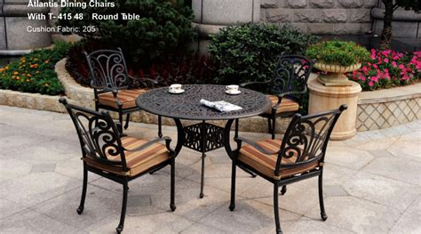 atlantis patio furniture patio furniture dining set cast aluminum 5pc atlantis