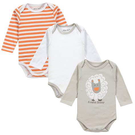 Bodysuits Baby 3 100 Cotton Baby Bodysuit 3pieces Lot Autumn Newborn