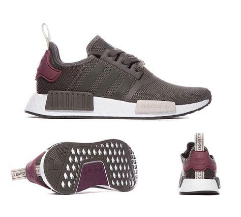Sepatu Adidas Nmd R1 Womens Grey Pink Premium Quality adidas originals womens nmd r1 trainer utility green