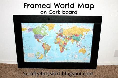 Hometalk   DIY Framed World Map on Corkboard