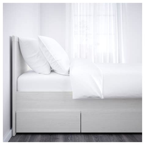 Brusali Bed Frame With 4 Storage Boxes White Leirsund Brusali Bed Frame With 4 Storage Boxes