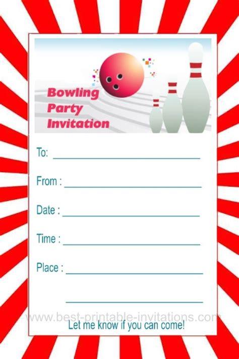 bowling pin invitation template bowling invitations