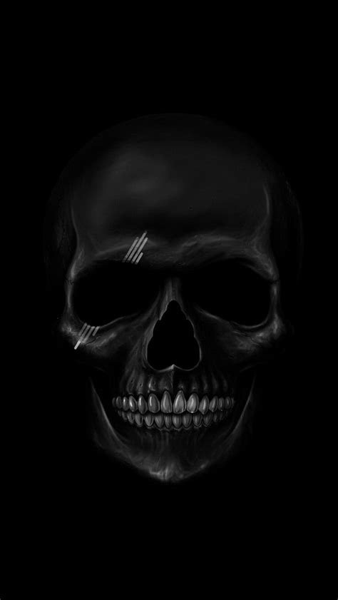 Black Skull   The iPhone Wallpapers