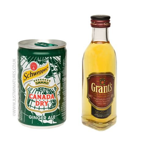 grants whisky ginger ale miniature mini can set just miniatures
