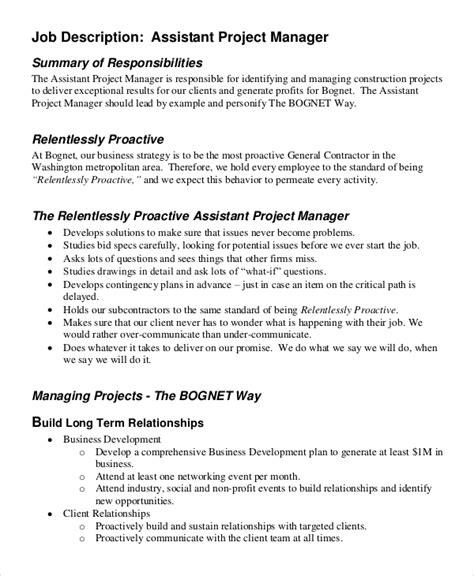 business project manager job description business plan templates