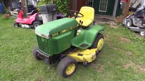 john deere  garden tractor overview cold start