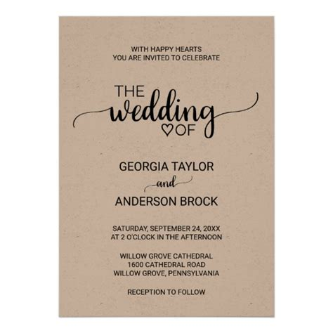 Wedding Invitation Cards Simple by Wedding Invitation Card Simple Chatterzoom