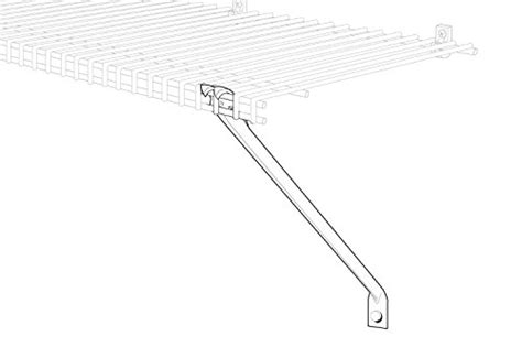 Closetmaid 12 Inch Shelf Bracket by Closetmaid 21775 12 Inch Support Brackets For Wire