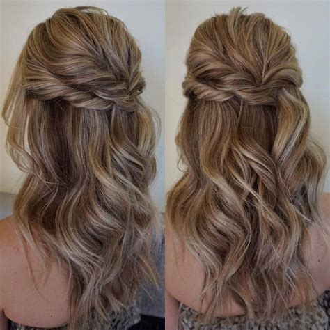 half up half down hairstyles for bridesmaids 32 pretty half up half down hairstyles partial updo