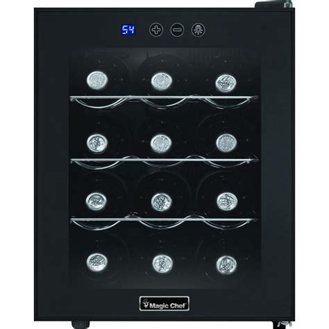magic chef wine cooler magic chef 12 bottle wine cooler in black mcwc12b the