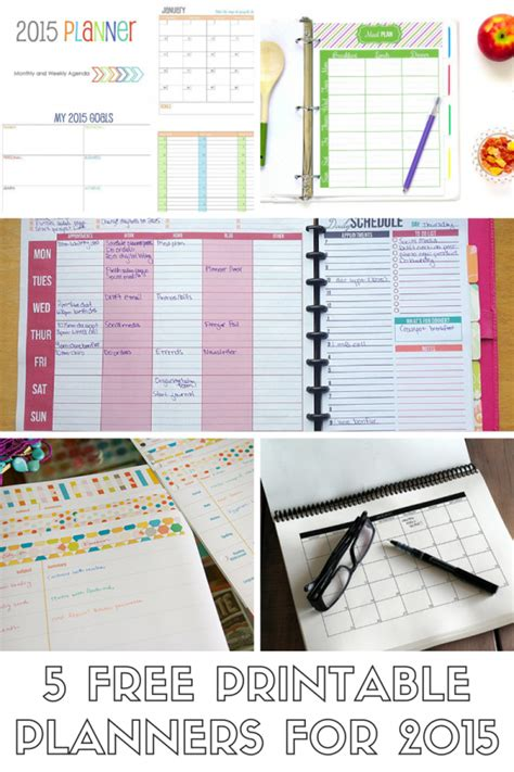 printable mom planner 2015 5 free printable planners for 2015 mom spark a trendy