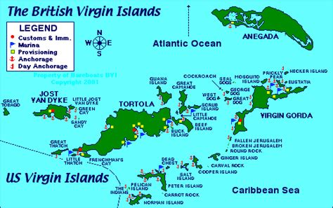 tortola map map of the islands