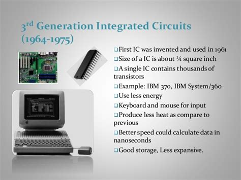 third generation integrated circuits generations