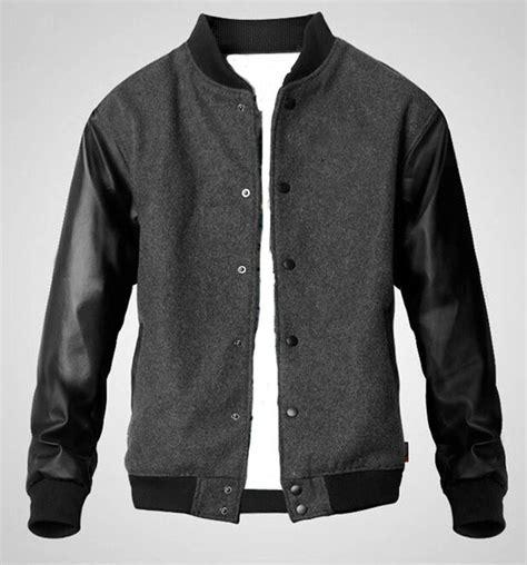 Parasut Jacket Kombinasi jaket baseball bhm grey