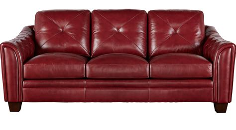 cindy crawford sofa collection marcella red leather sofa classic contemporary
