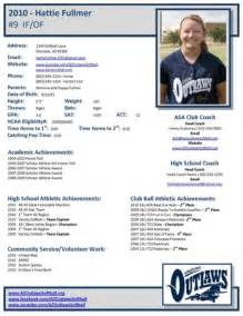 college recruiting profile template softball profile sheet pictures to pin on