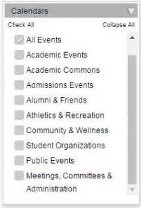 Allegheny College Calendar Master Calendar Tips 171 Conference And Event Services