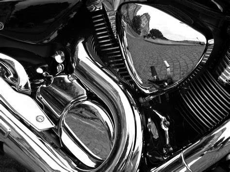 Chrome Electroplating   file motorcycle reflections bw edit jpg