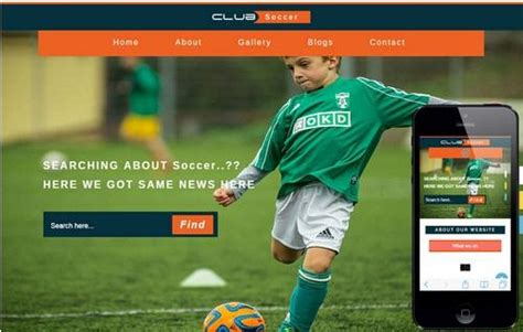 soccer html template 20 free html css sports website templates utemplates