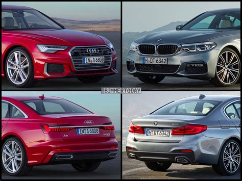 Vergleich Audi A6 Bmw 5er by Bild Vergleich Neuer Audi A6 2018 Gegen Bmw 5er G30