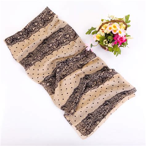 wholesale usa creen scarves lace dot silk scarf china scarf