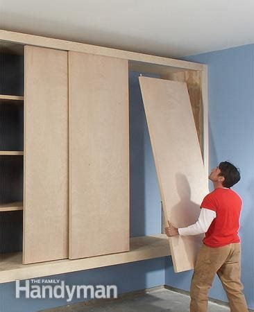 Build Out Closet by Diy Garage Cabinet The Family Handyman