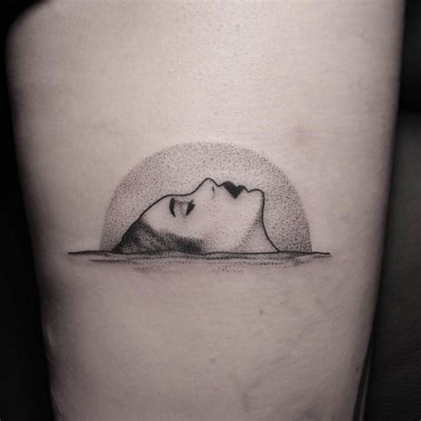 water tattoo dotwork style on the water artist