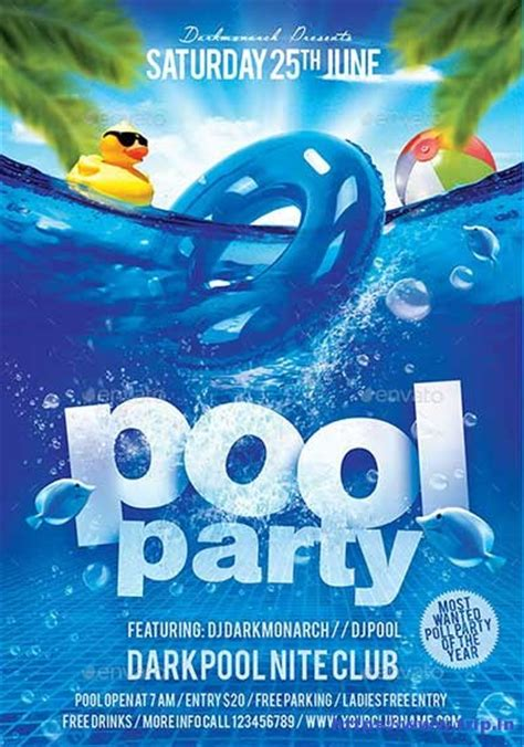 50 best summer pool party flyer print templates 2017 frip in