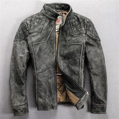 popular vintage leather jackets men buy cheap vintage