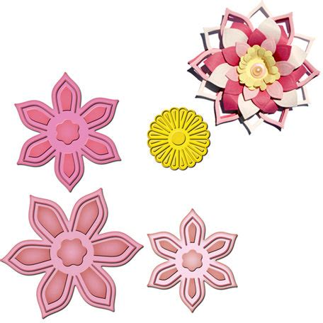 flower die cut template spellbinders shapeabilities collection die cutting and