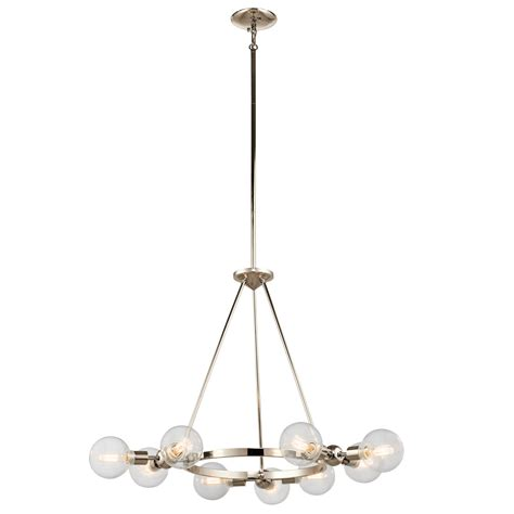 Nickel Chandelier Garim 9 Light Chandelier Polished Nickel