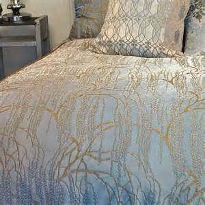 Gray Duvet Cover Kevin O Brien Studio Metallic Petals White Bedding
