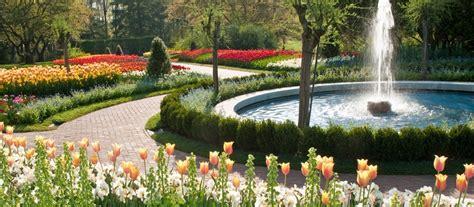 picture of garden flower garden walk longwood gardens