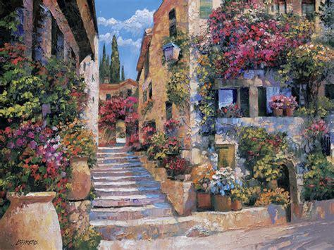 Italian stairs by howard behrens 26293 tile mural creative arts
