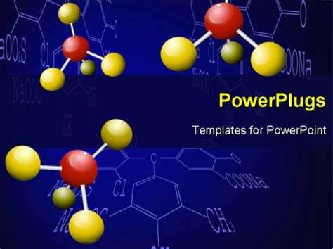 general chemistry powerpoint ppt templates ppt background powerpoint template three chemical molecules with yellow