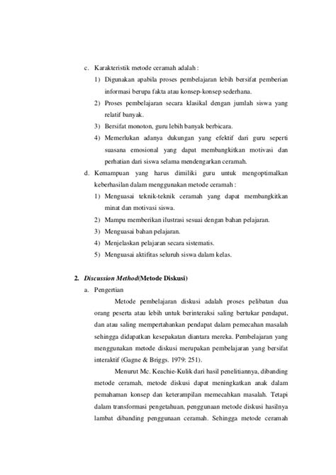Metode Pembelajaran Bydrasumiati N Asra rangkuman metode pembelajaran