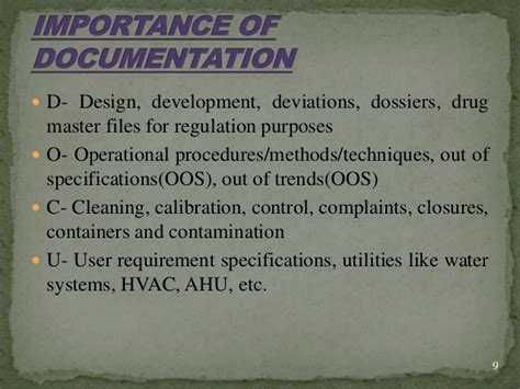 design dossier definition manufacturing documents gmp
