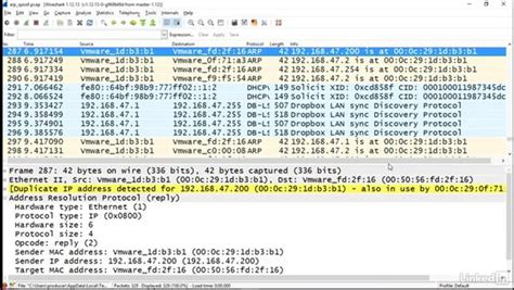 wireshark tutorial lynda detecting arp spoofing