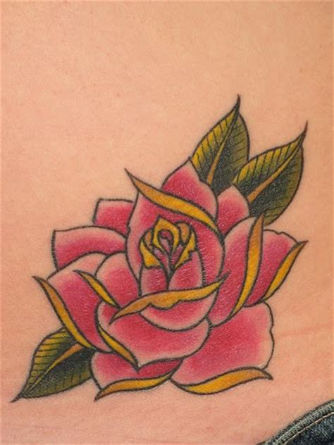 rose tattoo on hips design hip tattoos