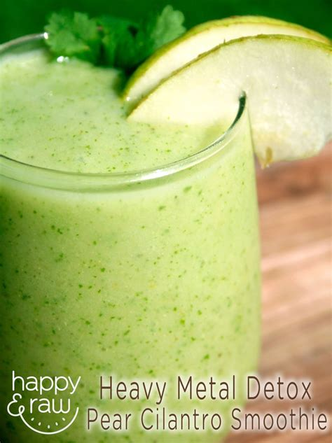 Cilantro Mango Detox Smoothie by Try This Pear Cilantro Smoothies For A Heavy Metal Detox