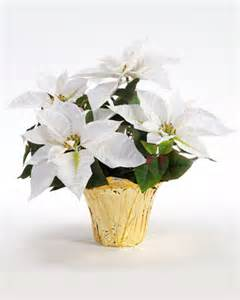 Table Flower Vase Shop Small Table Top Silk Poinsettia Plants At Petals