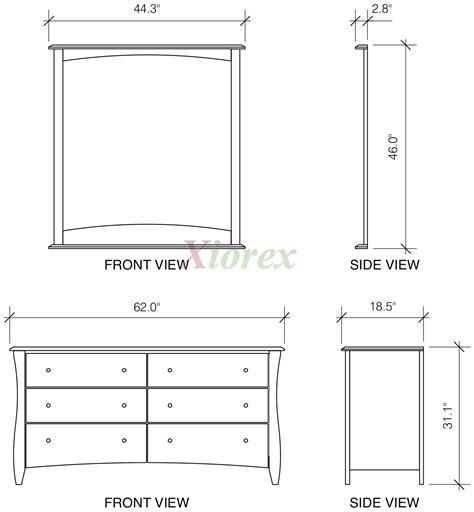 Dimensions Of A Dresser by Clove 6 Drawer Dresser Xiorex