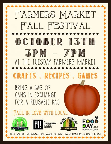Festival Template Live Well Waco Farmer S Market Fall Festival