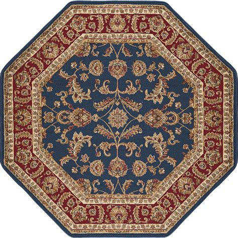 octagon rugs 7 tayse rugs sensation navy blue 7 ft 10 in octagon transitional area rug 4797 navy 8 octagon
