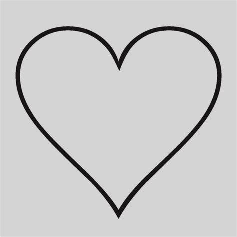 imagenes corazon en negro corazones para colorear simples buscar con google